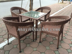 ban ghe cafe may nhua a129