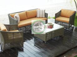 Ban ghe sofa may nhua E126