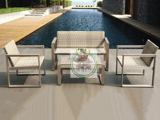 ban ghe sofa may nhua E127