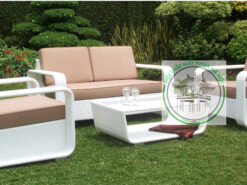 Ban ghe sofa may nhua E130